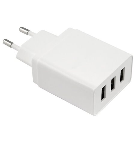 Phone and tablet charger: 3xUSB 3.1A