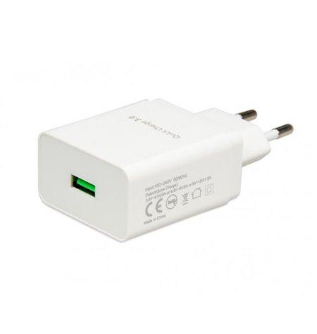 Telefoni ja tahvelarvuti laadija: 1xUSB 3A Quick Charge