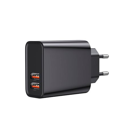 Phone and tablet charger: 2xUSB 3A Quick Charge