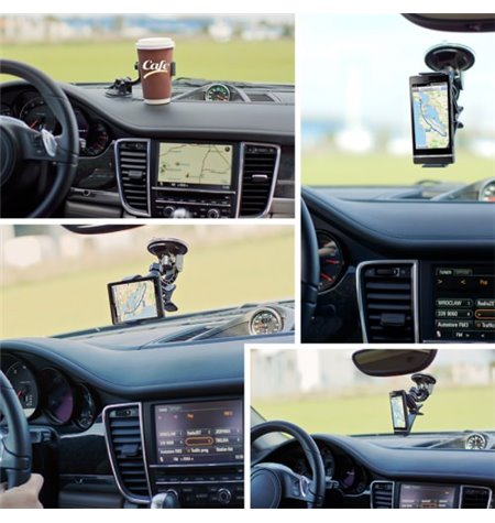 Car Window Mount Holder, up to 12cm devices, leg lenght 12cm