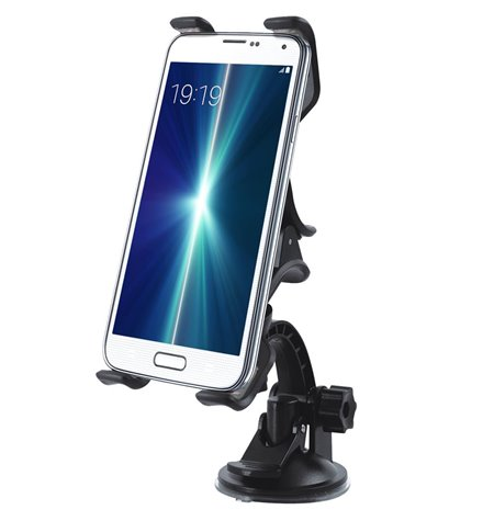 Car Window Mount Double Holder, up to 15cm devices, leg lenght 12cm