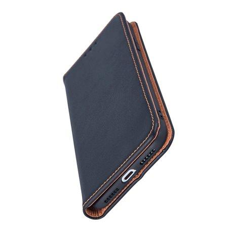 Leather Case Cover Samsung Galaxy J6 2018, J600 - Black