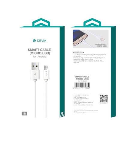 Devia juhe, kaabel: 1m, Micro USB - USB
