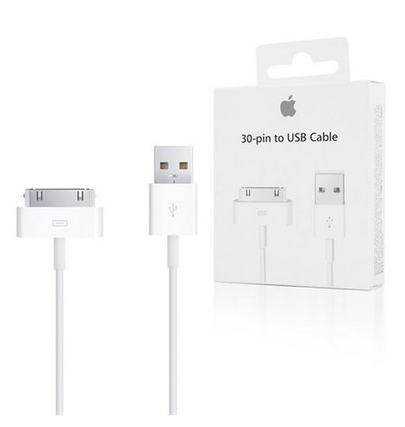 Apple cable: 1m, iPhone 30-pin, iPhone, iPad - USB