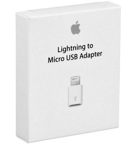 Apple adapter, üleminek: Lightning, iPhone, iPad, male - Micro USB, female
