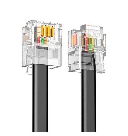 Võrgukaabel, internetikaabel: 3m, Telephone cable, RJ11, RJ14