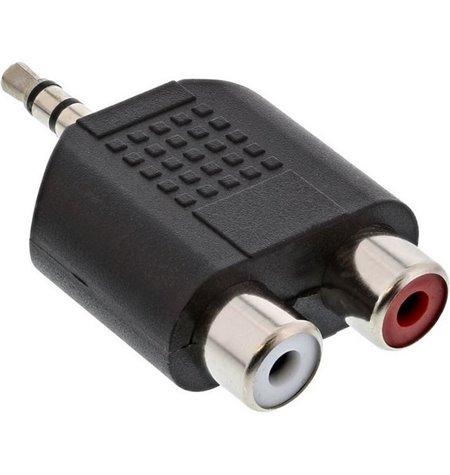 Adapter, üleminek: Audio-jack, AUX, 3.5mm, male - 2x RCA, female