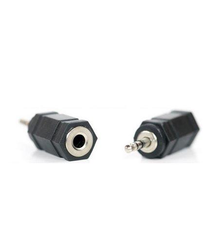 Adapter, üleminek: Audio-jack, AUX, 3.5mm, female - Audio-jack, 2.5mm, male
