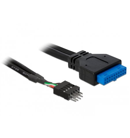 PC Internal Cable: 0.20m, USB3.0 19pin, female - USB2.0 9pin, male