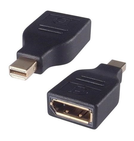 Adapter: Mini DisplayPort, male - DisplayPort, female