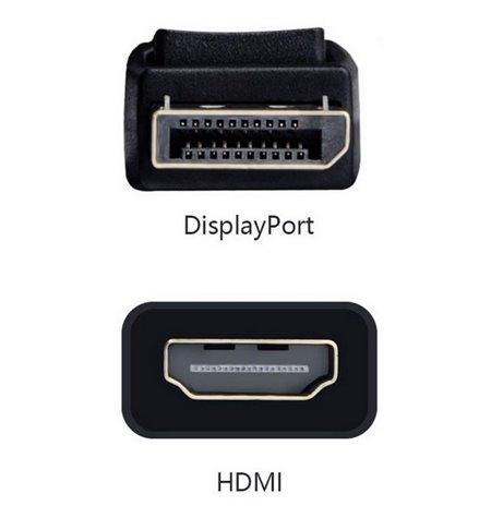 Adapter, üleminek: DisplayPort, male - HDMI, female, 4K, 3840x2160, Passive