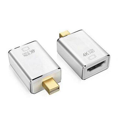 Adapter, üleminek: Mini DisplayPort, male - HDMI, female, 4K, 3840x2160, Passive