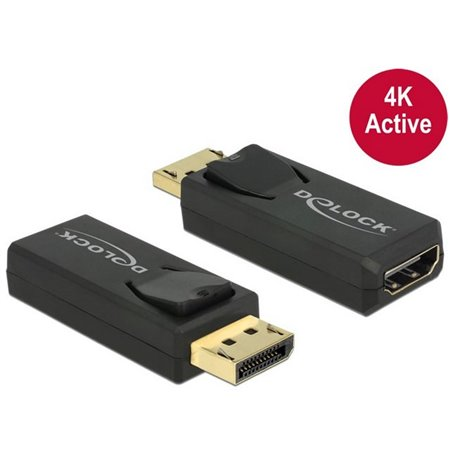 Adapter, üleminek: DisplayPort, male - HDMI, female, 4K, 3840x2160, Active