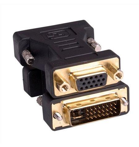 Adapter, üleminek: DVI-A, male - VGA, D-Sub, female