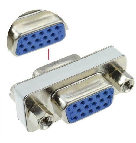 Adapter, üleminek: VGA, D-Sub: female - female