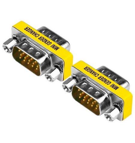 Adapter, üleminek: VGA, D-Sub: male - male